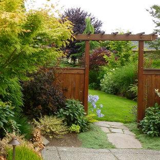Inspiration for a contemporary backyard garden in Seattle.