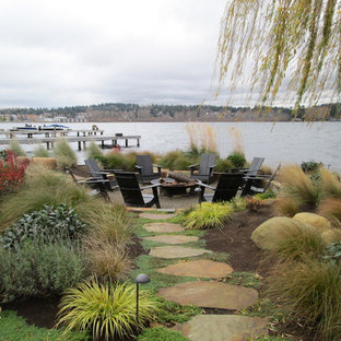 This is an example of a large coastal landscaping in Seattle.