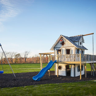 Design ideas for a farmhouse outdoor playset in Grand Rapids.