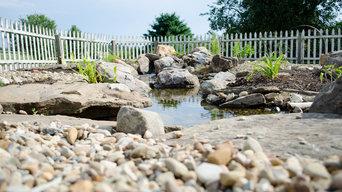 Koi Pond and Stream in Westmoreland County, Latrobe area, Pennsylvania (PA)
