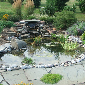 Koi Pond and Waterfall- Small Scale Design