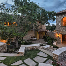 Mediterranean Landscape by Cornerstone Architects
