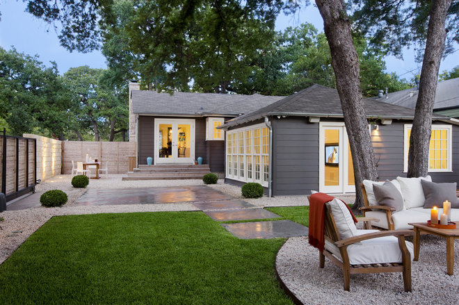 Modern Landscape by Texas Construction Company