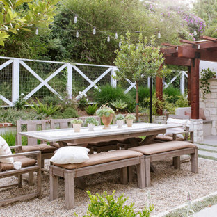 Inspiration for a farmhouse landscaping in Orange County.