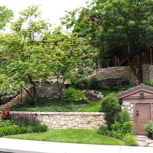 This is an example of a rustic landscaping in Kansas City.