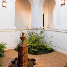 Mediterranean Landscape by Pillar Custom Homes, Inc.