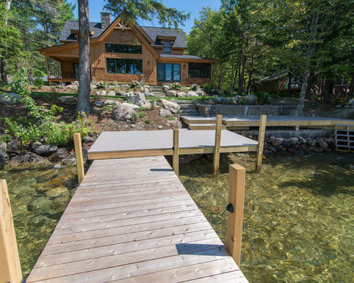 Lake winnipesaukee waterfront landscape design for Waterfront landscape design