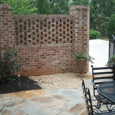 Traditional Landscape by ARNOLD Masonry and Landscape