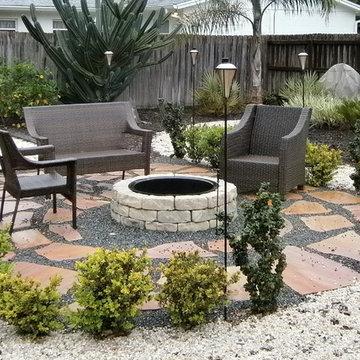 Landscape design for xeriscape or hardscape Winter Park Florida 2 years later