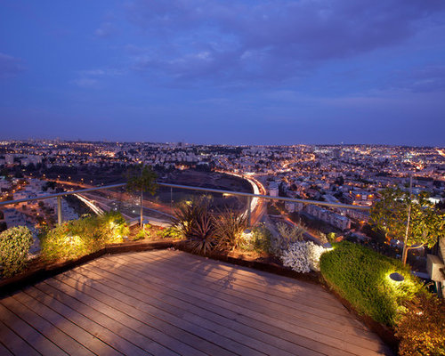 rooftop lighting. inspiration for a contemporary rooftop landscaping in other lighting