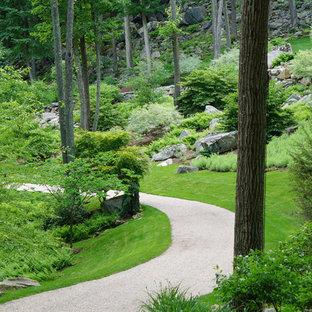 Très grand jardin moderne : Photos et idées déco de jardins