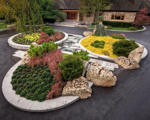 Roundabout Driveway Home Design Ideas Pictures Remodel