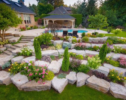 Terraced landscape houzz