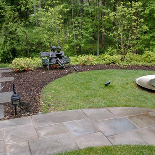 Design ideas for a traditional backyard landscaping in Baltimore.