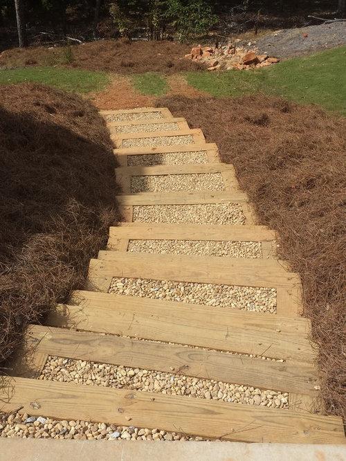 Landscape Timber Steps Houzz