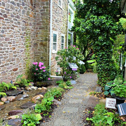 Designer Show House & Gardens- Pathway of artisan stone pavers - Overview of the new walkway.