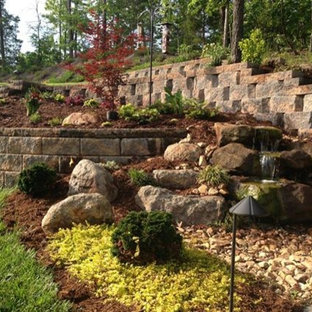 Inspiration for a traditional drought-tolerant stone landscaping in Charlotte.