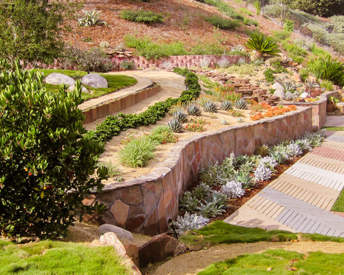 Backyard Retaining Wall Ideas Houzz