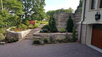Large Granite Stone Retaining Walls