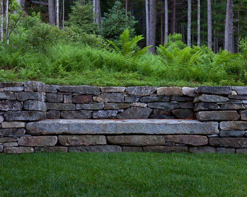 Retaining Wall Designs Ideas unilock olde quarry retaining wall unilock stonehenge paver landscape walls pinterest stonehenge Best Retaining Wall Design Ideas Remodel Pictures Houzz