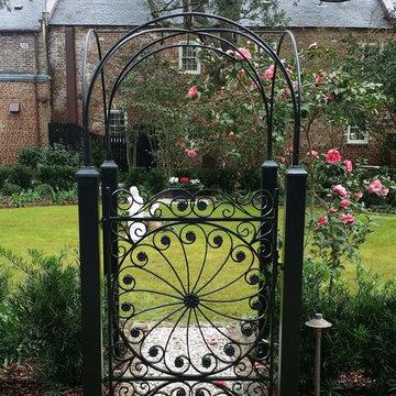 Legare St. garden gate & arbor