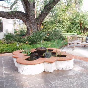 Lilian Rice, Estate landscape, Rancho Santa Fe, courtyard, pavers