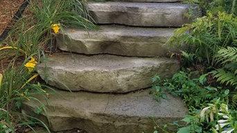Limestone Outcropping Steps