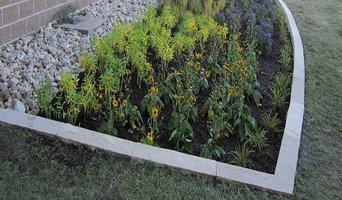 Limestone Raingarden with Various Native Plantings