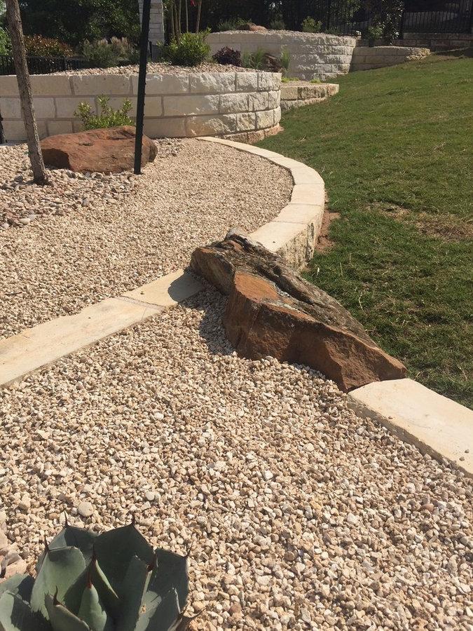 Limestone raised beds & Xeriscape