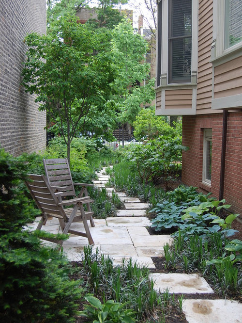 Narrow Side Yard | Houzz on Side Yard Path Ideas id=29354