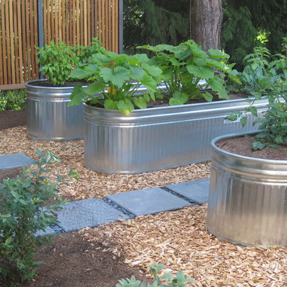 raised metal garden planters