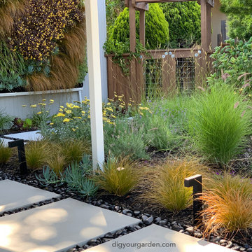 Living Green Wall and Landscape Remodel - Mid-Century Modern Home Sausalito, CA
