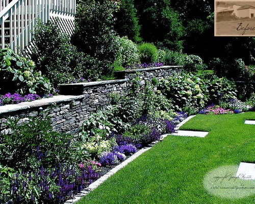 Fieldstone Walls Landscaping : Fieldstone retaining wall home design ideas pictures