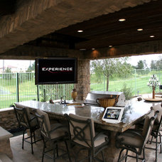 Traditional Patio by Experience Audio Video, Inc.