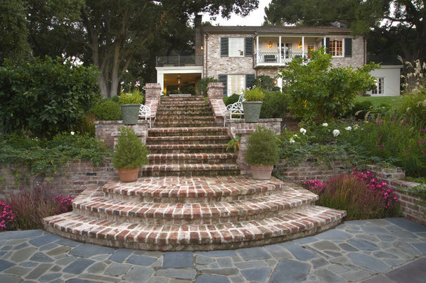 how to put garden walk setps brick