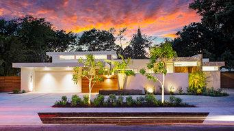 Lotus House – Outdoor Landscape Lighting