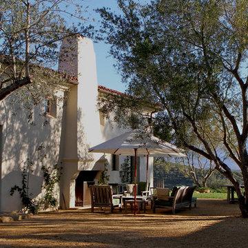Low Maintenance Mediterranean Landscape and Courtyard