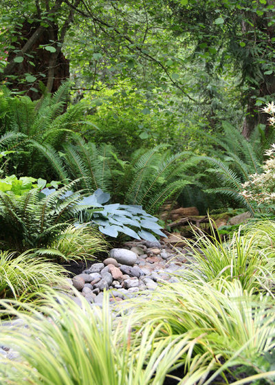Contemporain Jardin by Bliss Garden Design, LLC
