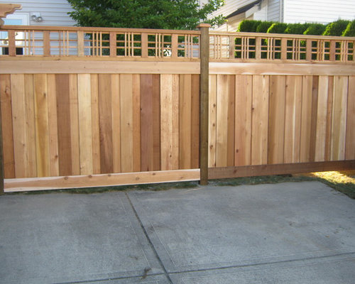 Houzz Craftsman Style Fence Design Ideas Remodel Pictures