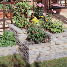 Eclectic Landscape by Nicolock Paving Stones and Retaining Walls