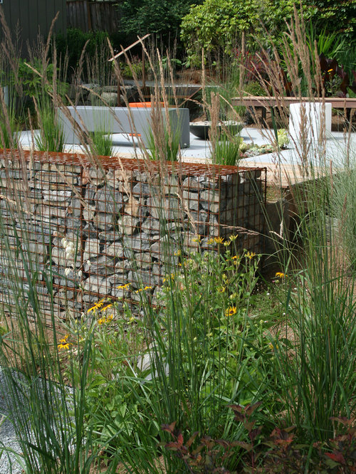 Gabion Basket Planter Home Design Ideas Pictures Remodel