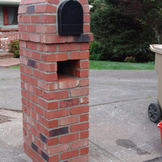Traditional Landscape by Brown Bros. Masonry