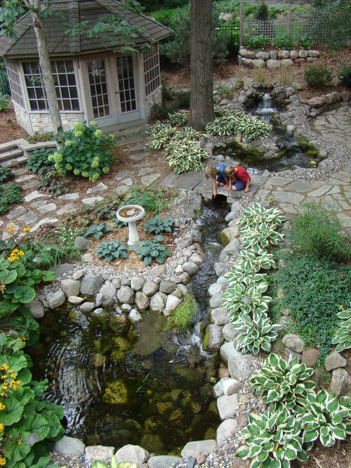 Backyard Stream Home Design Ideas Pictures Remodel And Decor