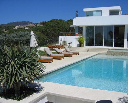 tumbled marble pool deck | houzz