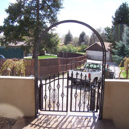 Manchester Walkway Gates with Trellis -