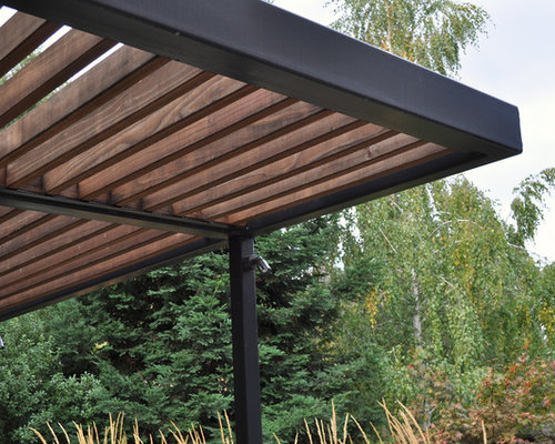 steel pergolas houzz. Black Bedroom Furniture Sets. Home Design Ideas