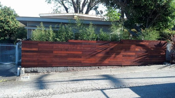 mangaris vertical fence with steel framing