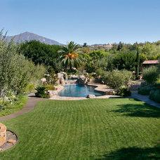 Mediterranean Landscape by James Glover Residential & Interior Design