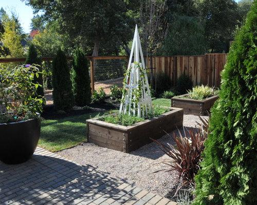 Jardin potager craftsman photos et id es d co de jardins for Idee deco jardin potager