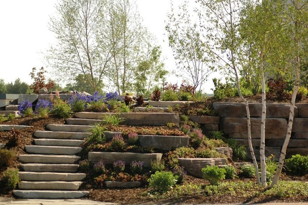 Rustic Landscaping Stones And Pavers by Designscapes